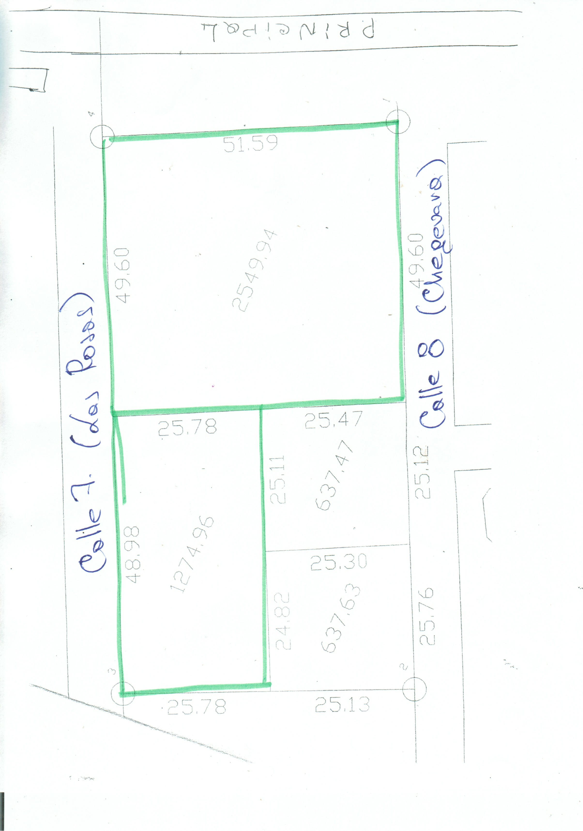 земельного участка 2556 м2