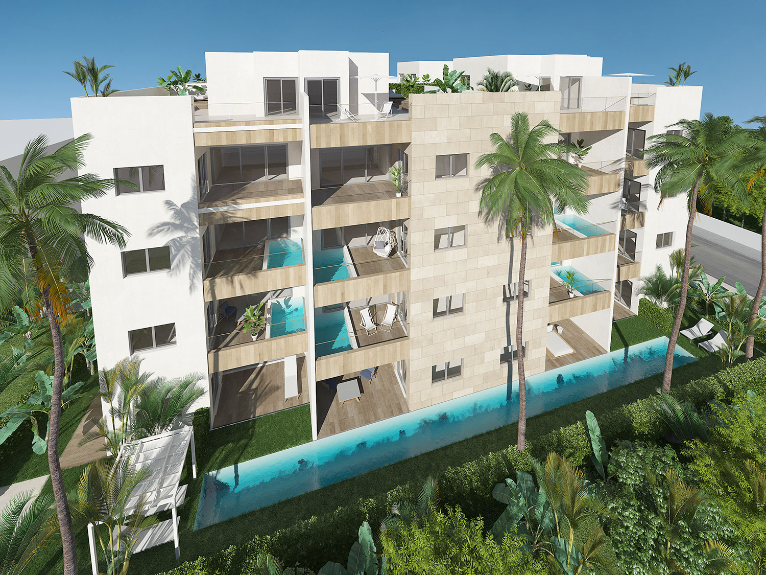 LUXURY APARTMENTS WITH ITS OWN PRIVATE POOL IN GARDEN RESIDENCE  (POOLG-COR)