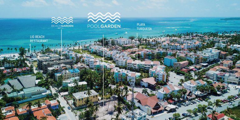 pool garden:beach garden map